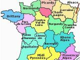 Road Map Of northern France the Regions Of France