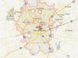 Road Map Of San Antonio Texas Texas Maps tour Texas