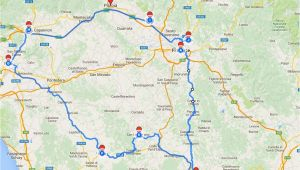 Road Map Of Tuscany Italy Tuscany Itinerary See the Best Places In One Week Florence