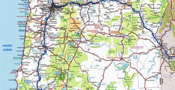 Road Map oregon State oregon Road Map