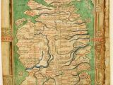 Roman Map Of England Map Of England and Scotland Circa 1250 History Map Of