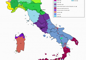 Roman Map Of Italy Linguistic Map Of Italy Maps Italy Map Map Of Italy Regions