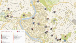 Rome Italy attractions Map Rome Printable tourist Map Sygic Travel