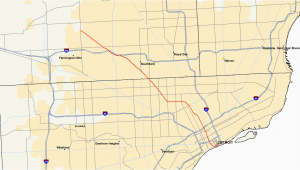 Roseville Michigan Map M 10 Michigan Highway Wikipedia