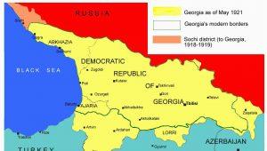 Russia Georgia Map sochi Conflict Wikipedia