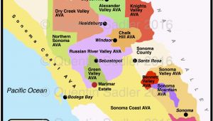 Russian River Valley California Map sonoma Valley Epic Map Of northern California Wineries
