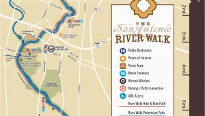 San Antonio Texas Riverwalk Map Map