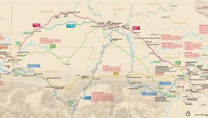 Santa Fe Trail Colorado Springs Map Maps Trail Of Tears National Historic Trail U S National Park