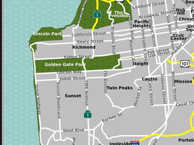 Santa Monica Map Of California Santa Barbara On Map Of California ...