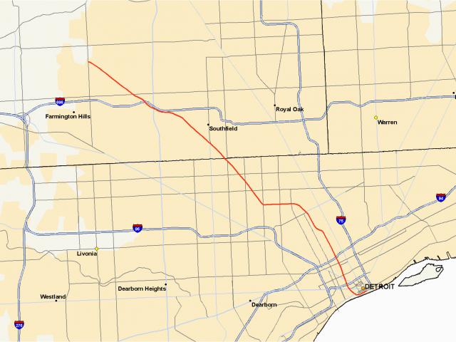 Satellite Maps Michigan M 10 Michigan Highway Wikipedia – secretmuseum