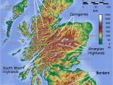 Scotland On A Map Of Europe Map Showing Mountainous areas Of Scotland Maps Map