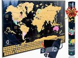 Scratch Off Europe Map Scratch Off Map Of the World Poster Travel Map Tracker with Us States Outlined and Country Flags Bright and Vibrant Colors Perfect Gift for