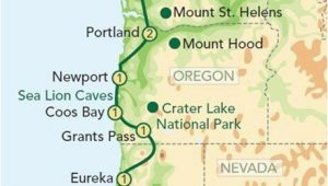 Seattle California Map Map oregon Pacific Coast oregon and the Pacific Coast From Seattle