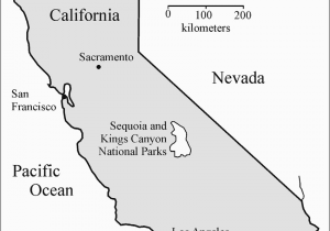 Sequoia National Park Map California Kings Canyon National Park ...