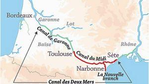Sete France Map Canal Du Midi Wikipedia