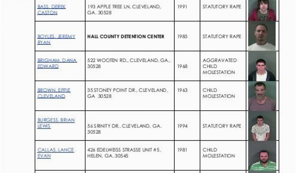 white county georgia sex offenders list