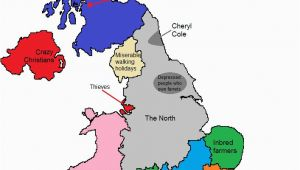 Sheffield On Map Of England A Map Of Gt Britain According to some Londoners Travel Around