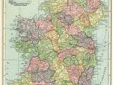 Show Ireland On World Map Ireland Map Vintage Map Download Antique Map C S Hammond