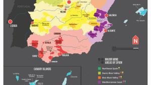 Show Map Of Spain Map Of Spanish Wine Regions Via Reddit Spain Map Of Spain