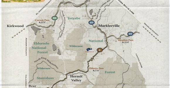 Sierra Mountains California Map Alpine County Map Alpine is Californias Least Populated County