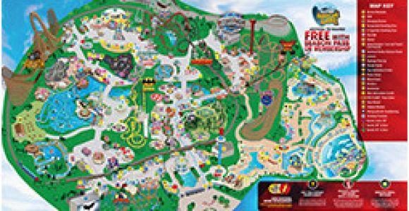 Six Flags California Map Park Map Six Flags Great America