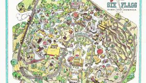 Six Flags Georgia Map I Found This Inaugural Year Map From Six Flags Over Mid America at