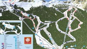 Ski Map Of France Trail Map Kolaa In 1450