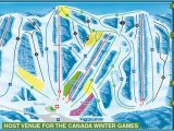 Ski Resorts Canada Map 2019 area Map Canyon Ski Resort
