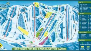Ski Resorts In Canada Map 2019 area Map Canyon Ski Resort