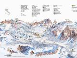 Ski Resorts In Italy Map Cortina D Ampezzo Slope Map Dolomiti Superski