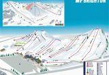 Ski Resorts In Michigan Map Mt Brighton Trail Map Onthesnow