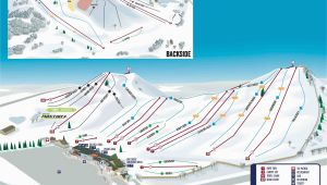 Skiing In Michigan Map Mt Brighton Trail Map Onthesnow
