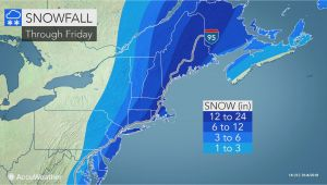 Snow Depth Map New England Snowstorm Pounds Mid atlantic Eyes New England as A Blizzard