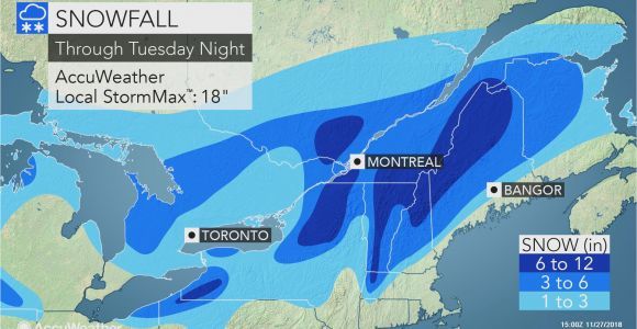 Snowfall Map Michigan nor Easter to Lash northern New England with Coastal Rain and Heavy