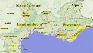 South Of France Map Coast the south Of France An Essential Travel Guide