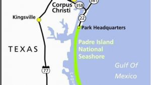 South Padre Texas Map Maps Padre island National Seashore U S National Park Service