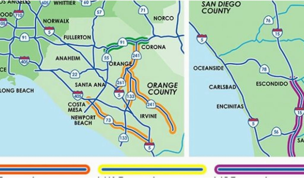 Southern California toll Roads Map 34 California toll Roads Map Maps on