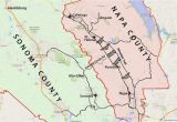 Southern California Wine Country Map Wine Country Map sonoma and Napa Valley