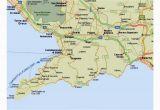 Southern Coast Of Italy Map Amalfi Coast tourist Map and Travel Information
