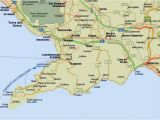 Southern Italy Map In Detail Amalfi Coast tourist Map and Travel Information