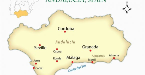 Southern Spain Map and Gibraltar andalusia Spain Cities Map and Guide