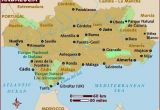 Southern Spain Map and Gibraltar Map Of andalucia