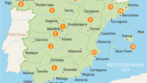 Spain and Portugal Map with Cities Map Of Spain Spain Regions Rough Guides