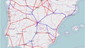 Spain High Speed Train Map Rail Map Of Spain and Portugal