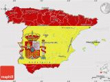 Spain Map for Kids Flag Map Of Spain