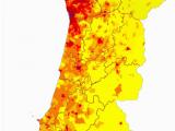Spain Population Density Map Western Faa Ade Of the Iberian Peninsula Population Density Harti