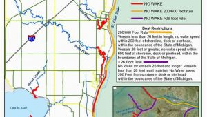 St Clair County Michigan Map No Wake Zones St Clair County Blueways asset Inventory