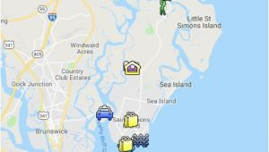 St Simons island Georgia Map St Simons island Map Google My Maps