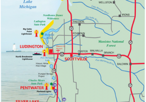 State Parks Michigan Map West Michigan Guides West Michigan Map Lakeshore Region Ludington