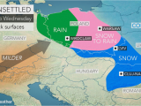 Storm Map Europe Snow Creates Slick Travel From Poland to Ukraine as Alps